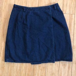 Vintage Route66 Jean Wrap Skirt!